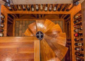 Hardwood Flooring Staircase Case Refinish to Wine Cellar