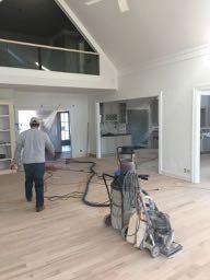 sanding new hardwood floors dustless system