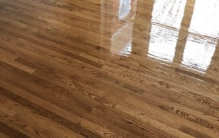 Kitchen floor refinish and new stain