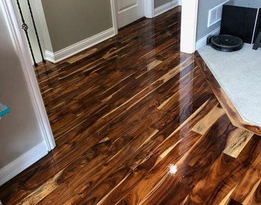 Hallway refinish and new stain