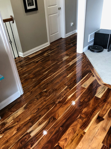 Highland Hardwood Flooring Refinishing Installation