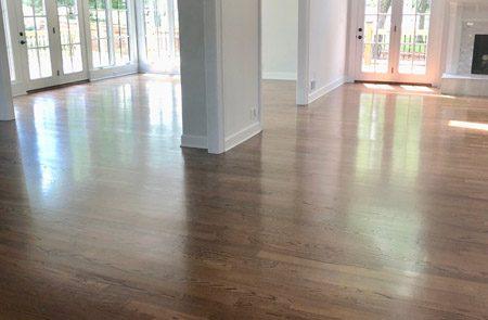 Hardwood flooring new construction