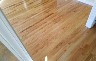 Hardwood flooring entryway refinishing